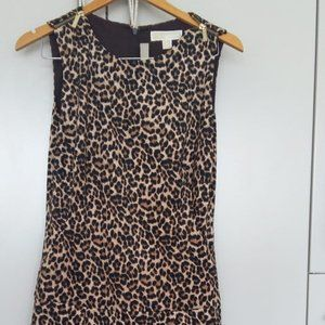 Michael Kors Animal Print Sleeveless Dress Size10